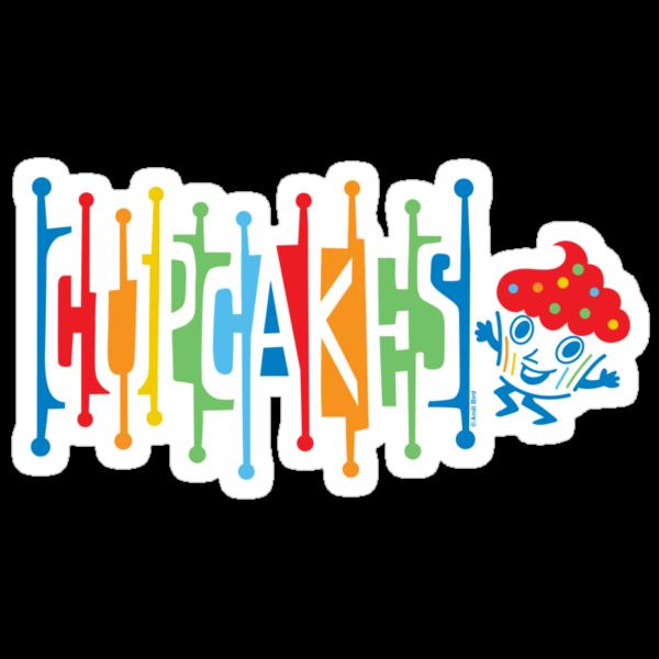 Retro Cupcakes - on lights by Andi Bird