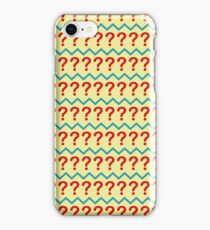 Question Mark Pullover - Pattern iPhone Case/Skin