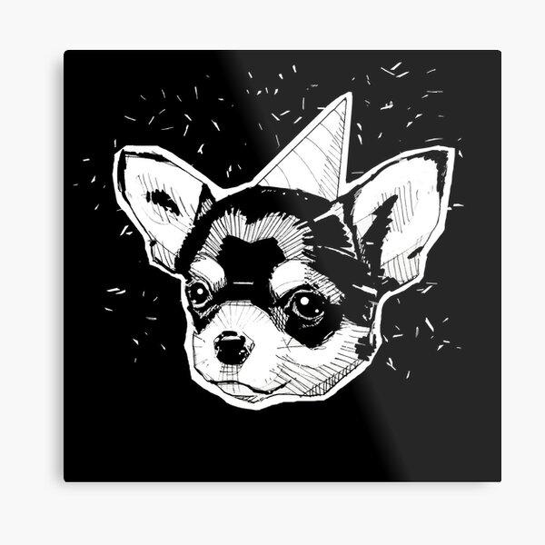 Party Chihuahua Impression métallique