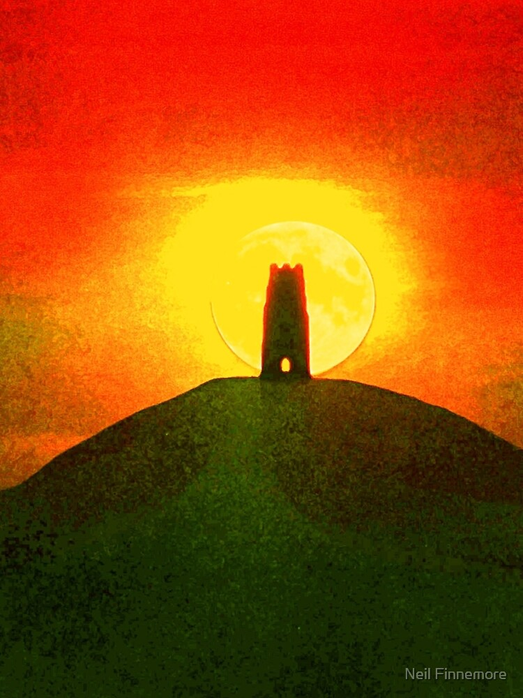 GLASTONBURY TOR SUNSET by FieryFinn77