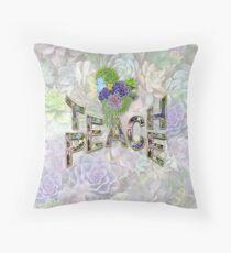 South Africa Succulents & Teach Peace Throw Pillow