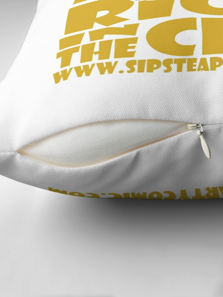 Alternate view of STPC: Pow!!! Right in the Chibi 2.0 Throw Pillow