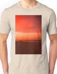 Evening fishermen Unisex T-Shirt