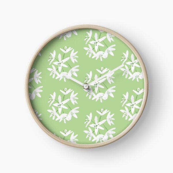 Ramsons flower pattern Clock