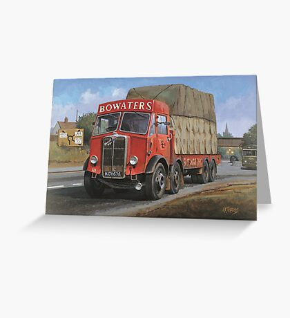 AEC Mammoth Major Bowwaters. Greeting Card