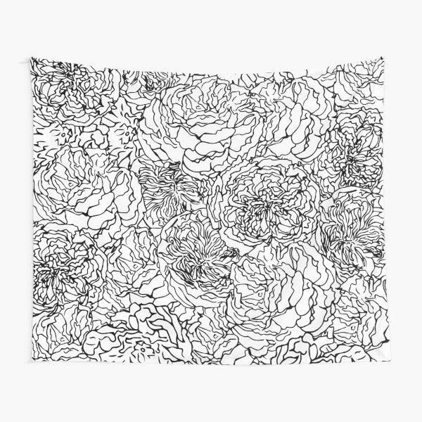 SPRING IN BLACK AND WHITE Tapestry