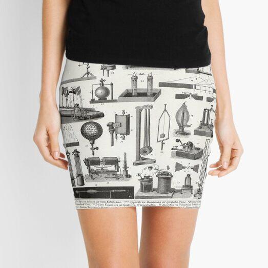 Old Educational Physics Poster Mini Skirt