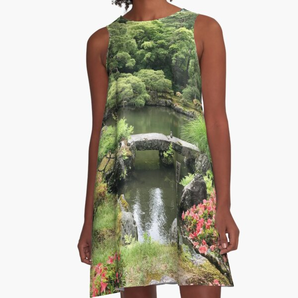 Japanese garden paradise A-Line Dress