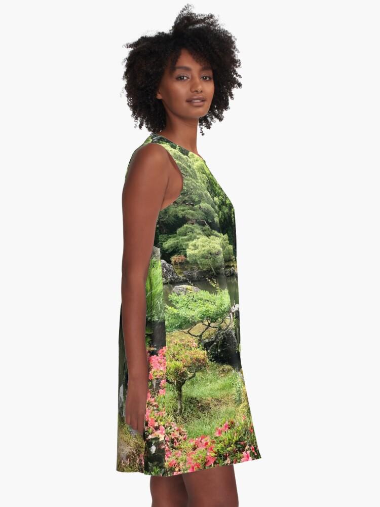 Alternate view of Japanese garden paradise A-Line Dress