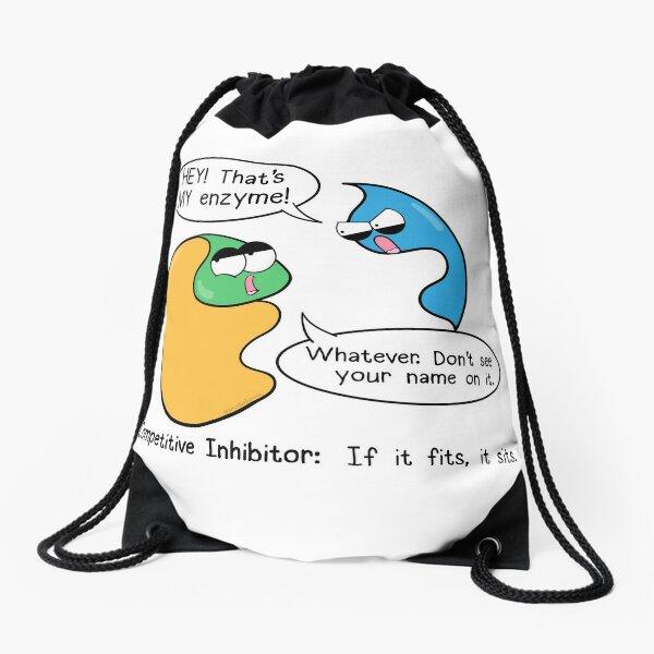 Competitive Inhibitors Drawstring Bag