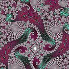 Red and Green Fractal by KaleiopeStudio