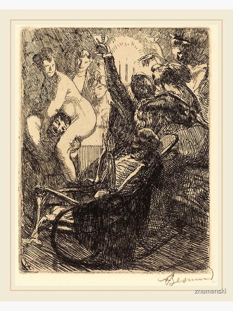 Albert Besnard The Orgy Lorgie French Litz Collection, The Orgy (L'orgie), 1900 by znamenski