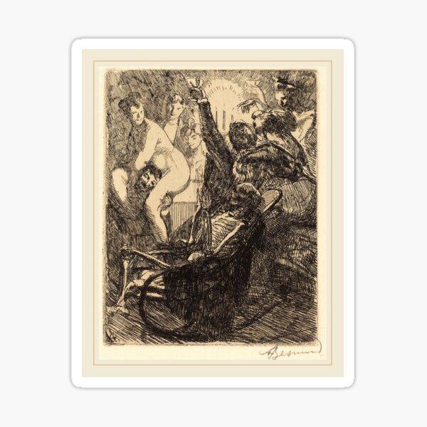 Albert Besnard The Orgy Lorgie French Litz Collection, The Orgy (L'orgie), 1900 Sticker