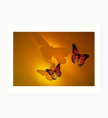 Montréal - Butterflies dancing. Art Print