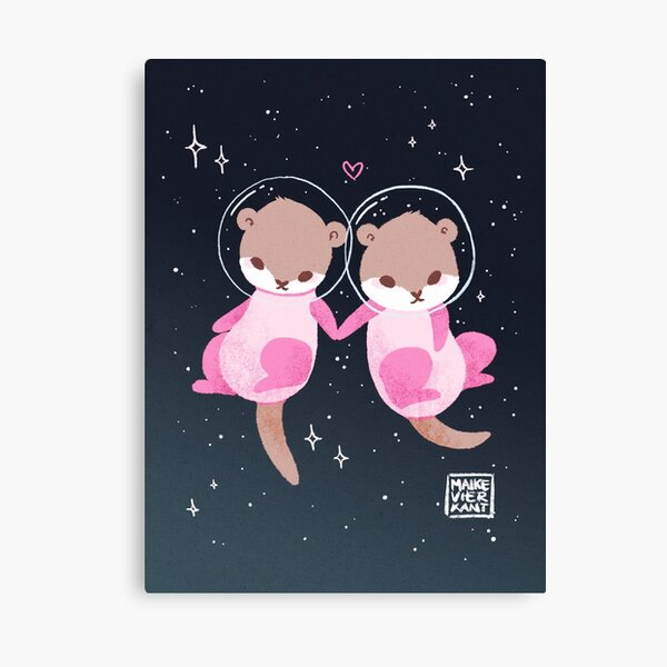 Space Otters Canvas Print
