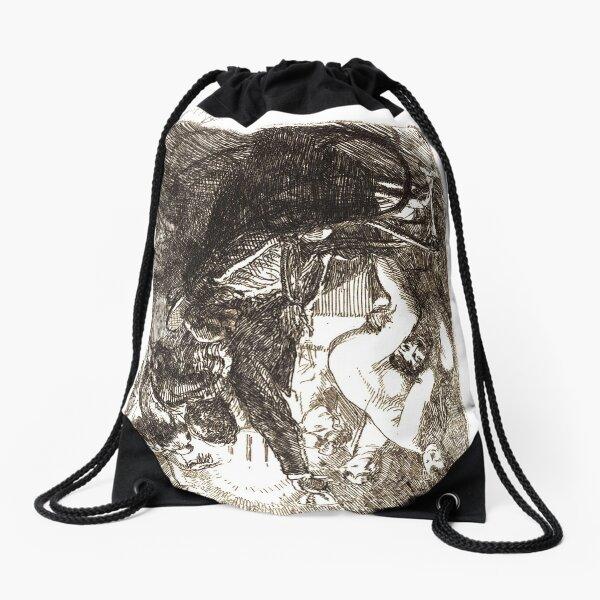 Paul-Albert Besnard, French painter, The Orgy (L'orgie), 1900 Drawstring Bag