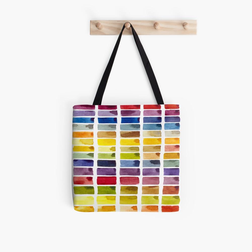 Rainbow Color Block Tote Bag