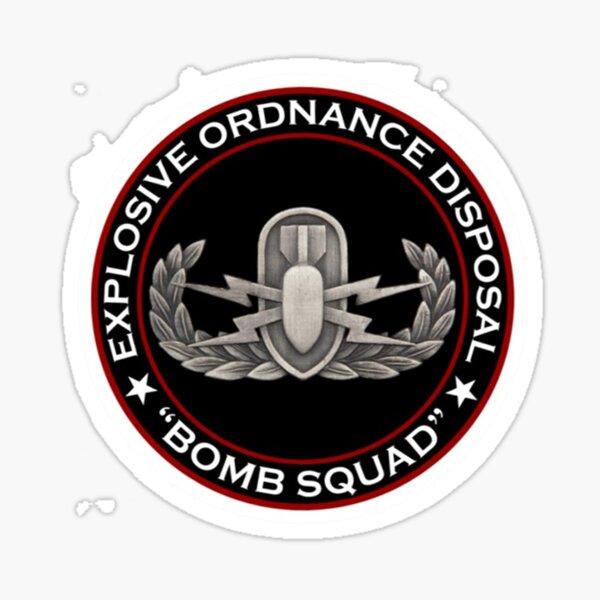 E.O.D. Bomb Squad Sticker