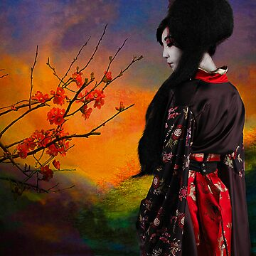 Geisha with Quince by ImagesFX