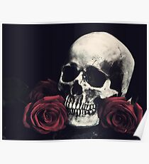 Skull and Roses Poster
