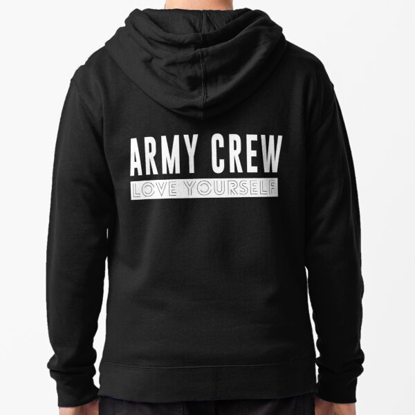 BTS - ARMY Crew - Love Yourself Tour  Zipped Hoodie