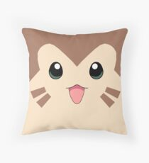 Furret Face Design Throw Pillow