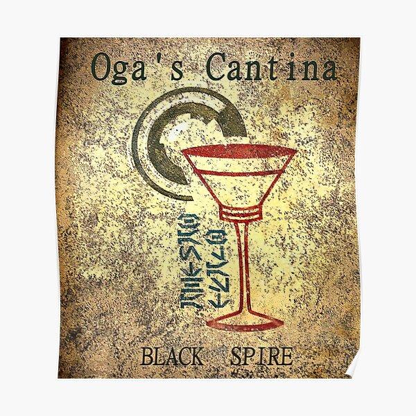 Oga's Cantina Black Spire Outpost Poster