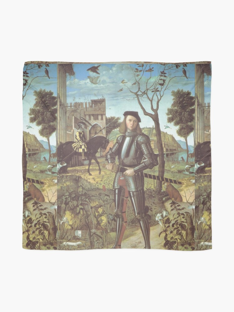 Alternate view of Young gentleman in a landscape, Carpaccio Scarf
