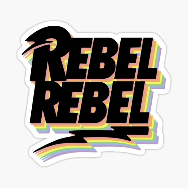 David Bowie - Pride - Rebel Rebel Sticker