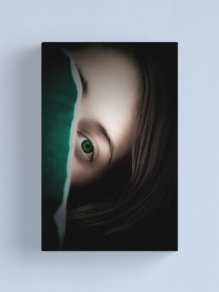 Alternate view of Green Eyed Lady Canvas Print