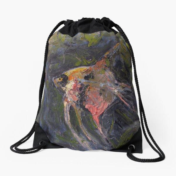 Swimming Like Fish - Life in Pink Drawstring Bag