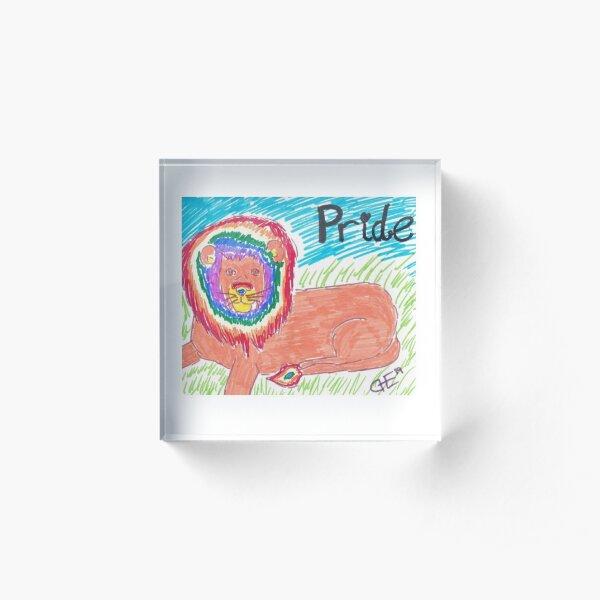 Lion Pride Acrylic Block
