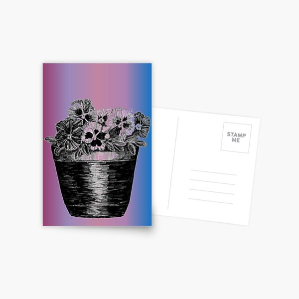 Pansies in a Pot Greeting Card (Blank) Postcard