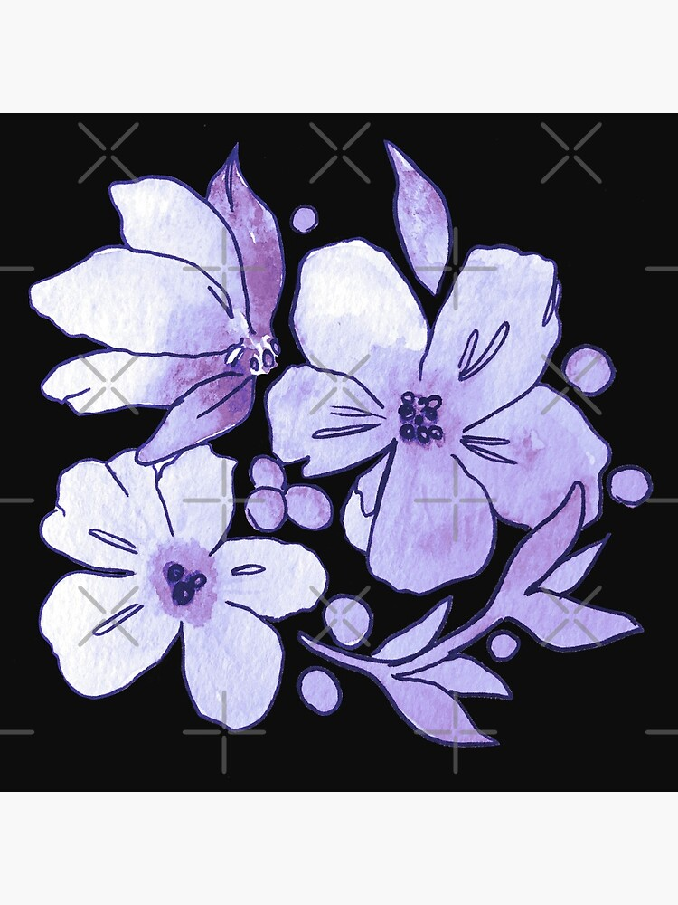 Purple Flower Pattern by skinnyginny