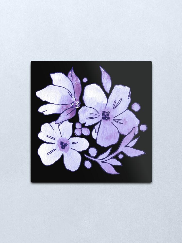 Alternate view of Purple Flower Pattern Metal Print