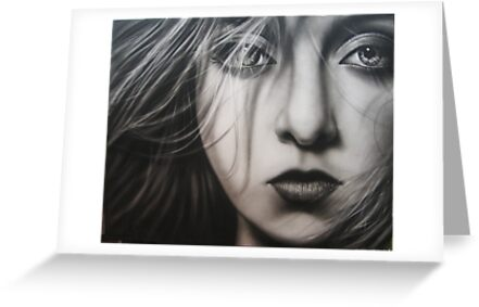 ' Ethereal ' 125 cm x 150 cm   Charcoal and Acrylic painting  by Warren Haney