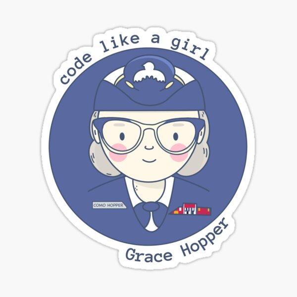 Grace Hopper - Code like a girl Sticker
