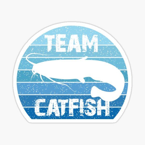 Team Catfish, Pêche au chat, Rétro, Vintage Sticker