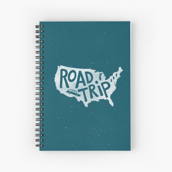 Road Trip USA - blau Spiralblock
