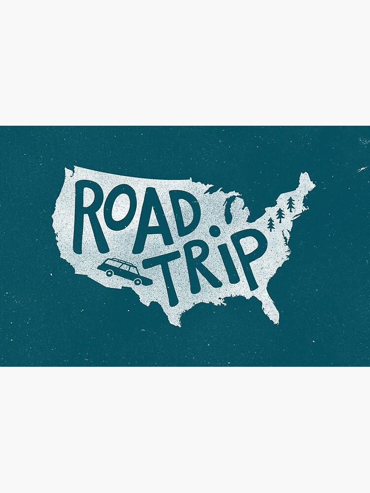 Road Trip USA - blue by cabinsupplyco