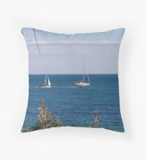 Hampton Beach sailing - Victoria - Australia Throw Pillow