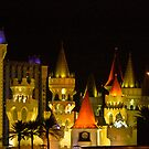 The Excalibur Hotel and Casino, Las Vegas at night by Henry Plumley