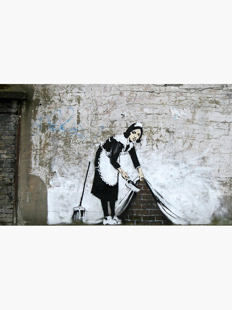 Banksy, Cleaning Lady (swept Under the Carpet) Artwork, Prints, Posters, Tshirts, Men, Women, Kids by clothorama