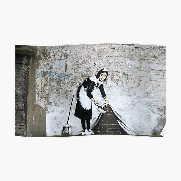 Banksy, Putzfrau (unter den Teppich gekehrt) Grafik, Drucke, Poster, T-Shirts, Männer, Frauen, Kinder Poster