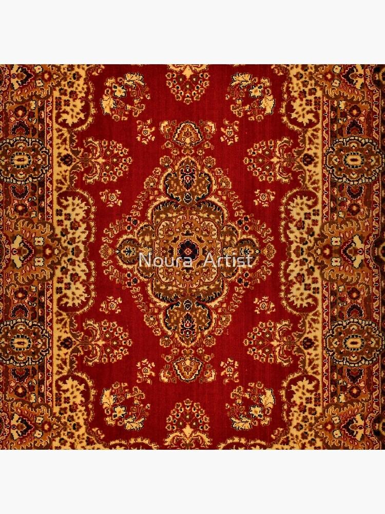 Persian Carpet - Persian Vintage Antique Carpet Nature Fine Art by del286