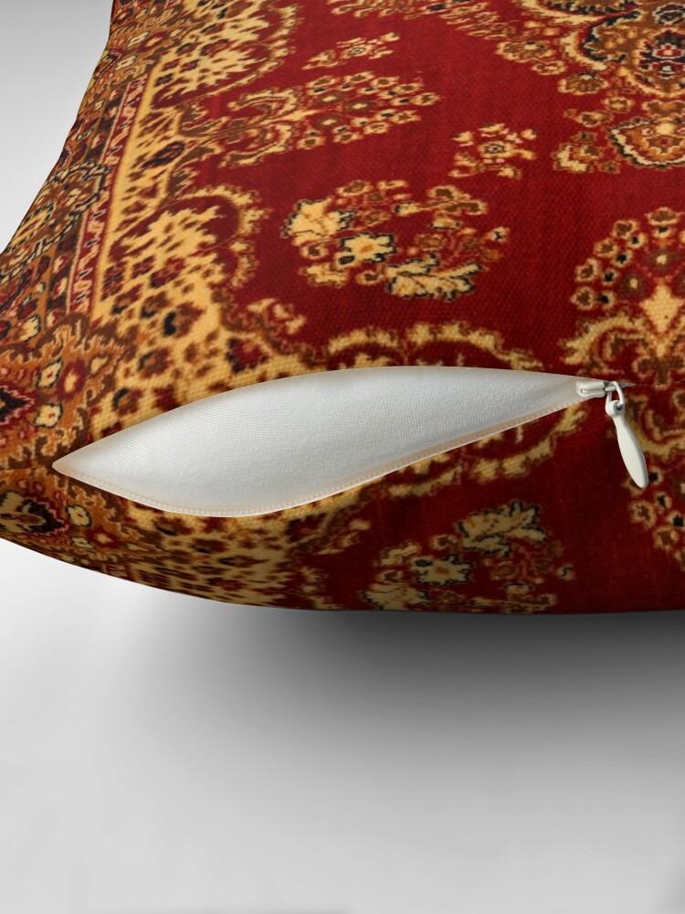 Alternate view of Persian Carpet - Persian Vintage Antique Carpet Nature Fine Art Throw Pillow