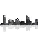 Milwaukee, Wisconson Skyline - schwarz und weiß von Marlene Watson