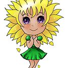 Sunflower Chibi Girl by ragtagart