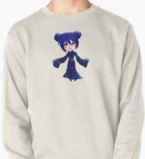 Blue Chibi Girl Pullover Sweatshirt