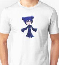 Blue Chibi Girl Slim Fit T-Shirt